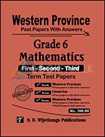 Grade 6 : Mathematics - Western Province Past Papers with Answers (Accordingly New Syllabus)