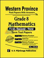 Grade 8 : Mathematics - Western Province Past Papers with Answers (Accordingly New Syllabus)